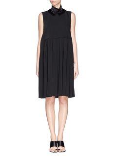 ELLERY - 'Splash' satin collar pleat dress   Black Casual Dresses   Womenswear   Lane Crawford - Shop Designer Brands Online