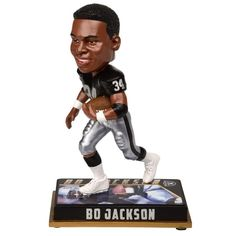 "NFL Retired Player 8"" Bobble Head Figures Los Angeles Raiders Bo Jackson #34"
