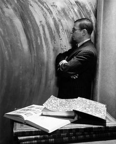 Jean-Paul Sartre photographed by Cecil Beaton (American Vogue, July 1945).