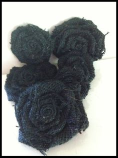 Black burlap flowers by SimplySouthernCrafts on Etsy, $10.00