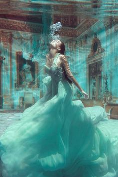 Aqua fashion shot.....stunning