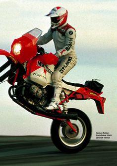 Gaston Rahier - A big rider Enduro Motorcycle, Bmw Scrambler, Motorcycle Types, Racing Motorcycles, Enduro Vintage, Vintage Bikes, Tron Bike, Rallye Raid, Bmw Boxer