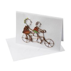 Celebrate the journey of love with a tandem bicycle card made from fun and unusual recycled materials. Artisans of KICK Trading in Kisumu, Kenya, use post-consumer, locally-sourced soda cans to make their products. Tandem Bicycle, Bicycle Cards, Recycle Cans, East Africa, Be My Valentine, Card Making, Artisan, Journey, Place Card Holders
