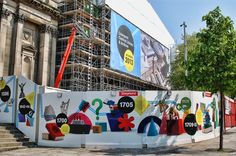 construction wraps - Google Search Guide System, Floor Graphics, Tap Room, Environmental Graphics, Mural Art, Glass Door, Wall Design, Signage, Banner