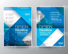 Blue Brochure annual report cover Flyer Poster design Layout template illustracion libre de derechos libre de derechos