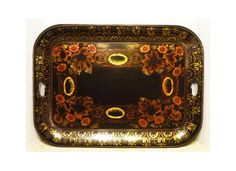 Vintage TOLEWARE TRAY - signed