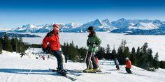 skiing and snowboarding - Niederhorn