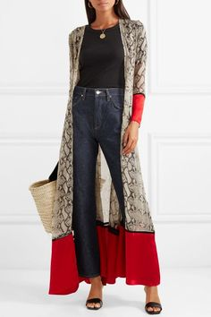 83e8a187b0 The New Fall Trends Everyone Will Wear With Jeans. Snake Print PantsKimono  ...