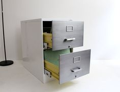 Industrial Globe Wernicke Two Drawer Vertical Refurbed by Humemaze