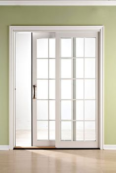 1000 ideas about sliding french doors on pinterest for Sliding doors that look like french doors