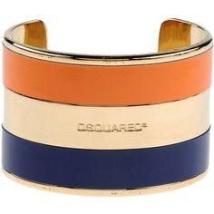 Dsquared2 Bracelet ($120) ❤ liked on Polyvore featuring jewelry, bracelets, accessories, jewels, gold, bracelet bangle, dsquared2, genuine leather bracelet, leather jewelry and bracelet jewelry