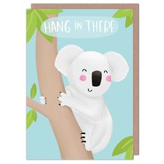 Hang In There by Nutmeg & Arlo from Whale & Bird Good Luck Cards, Cellophane Bags, Whale, Greeting Cards, Lettering, Bird, Cellophane Gift Bags, Whales, Birds