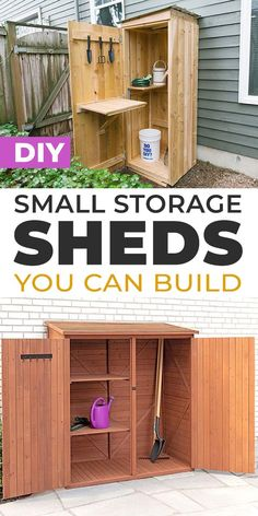 Shed Storage, Small Storage, Diy Storage, Home Improvement Projects, Home Organization, Diy Home Decor, Diy Projects, Outdoor Decor, Design