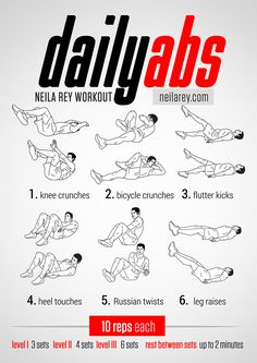 Daily Abs Workout. Works: Upper, lower and lateral abs