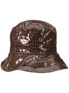 549b96d67a1 Women s Reversible Bucket Rain Hat - Brown - CD12F8E43UH