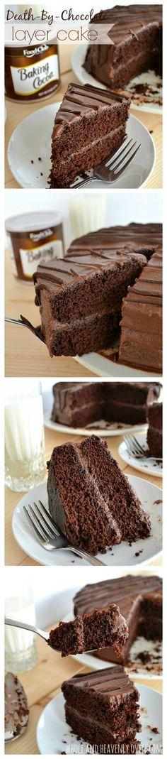 Hands down the best chocolate cake you will ever taste. The layers are unbelievably moist and fudgy with a smooth chocolate buttercream frosting. Try this cake for your next birthday party—it's a show-stopper!