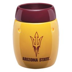 Arizona State University Scentsy Warmer - Perfect for a college student or graduate from ASU. Show us your pride! New College, Scentsy Independent Consultant, Arizona State University, Wax Warmers, Scented Wax, Fragrance, Devil, Collection, Sun