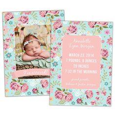 Rose Garden Birth Announcement – Cards, Albums & More