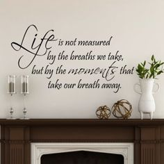 Life Is Not Measured Wall Lettering Stencil WW264