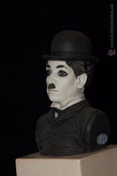 Busto de Charlie Chaplin en auténtica porcelana de Algora certificada. Perfecto estado. - Foto 1