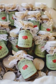 Take a look at the best fall wedding favors in the photos below and get ideas for your wedding! Looking for wedding favors that your guests will want to stash?Check out these adorable favors your guests will love to take… Continue Reading → Creative Wedding Favors, Wedding Favors For Guests, Wedding Gifts, Apple Wedding Favors, Dinner Party Favors, Fall Party Favors, Wedding Tokens, Wedding Souvenir, Wedding Things