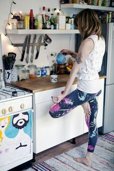 Yoga in the Kitchen....