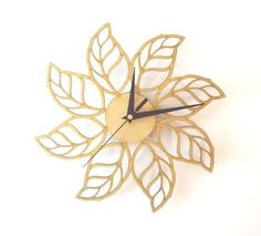 Handmade decorative wall clock from carefully selected quality wood, cut with…