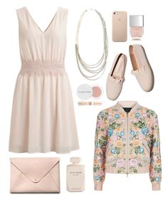 """""""Natural"""" by gicreazioni ❤ liked on Polyvore featuring Needle & Thread, Elie Saab, HarLex, Herbivore, Nails Inc. and Maybelline"""