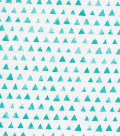 Keepsake Calico™ Cotton Fabric-Turquoise Shaded Triangle - crib sheet 2 yards