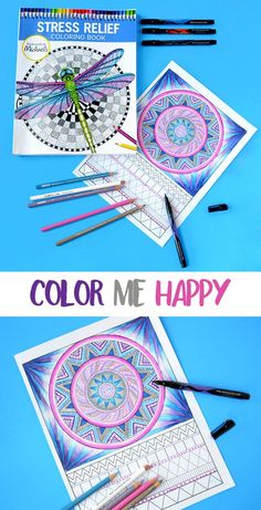 Color Me Happy with @pinprismacolor pencils & markers! You can find them at @michaelsstores - Visit the website site for free fun coloring pages too! #relaxandcolor #ColoringwithMichaels #PMedia Ad
