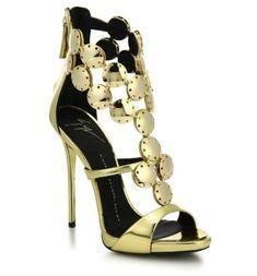 Giuseppe Zanotti Metal Paillettes Metallic Sandals SS 2015 | Shoes