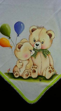 Pintura em tecido   para bebês   ursos