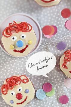 Clown Muffins Rezept: Clown backen ist nicht nur eine Fasching Idee. Die Fasching Muffins eignen sich auch als Geburtstag Muffins oder für ein Kinder Buffet.