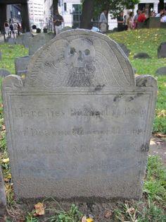 Gravestones via @nikki_vz Here Lies Buried ye Body of Deacon Samuel Harris who died Novr yr 26st 1767 Aged 41 years.