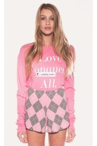 Wildfox Couture Love Conquers All Long Sleeve Tee www.hintboutique.com