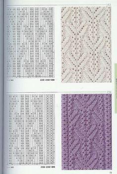 Photo from album Knitting Patterns on Yandex. Lace Knitting Patterns, Knitting Stiches, Cable Knitting, Knitting Charts, Lace Patterns, Knitting Designs, Knitting Needles, Stitch Patterns, Knit Stitches
