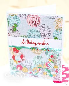 The Cherry On Top Designer Series Paper is great for a confetti card! -Kaitlyn Zumbach