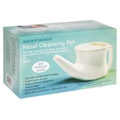 Nettie pot, want to stay healthy...use this.  If you are stuffy...use this and you will feel better almost instantly.