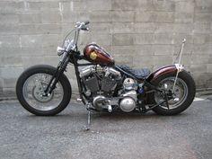 作品 : 98' FLSTS Custom of Luck Motorcycles Softail Bobber, Harley Bobber, Harley Softail, Bobber Motorcycle, Motorcycle Clubs, Harley Davidson Motorcycles, Custom Harleys, Custom Bikes, Honda Shadow Bobber