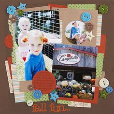 Crop Patterned Paper and Photos in Multiple Shapes and Sizes  Design by Leslie Lightfoot