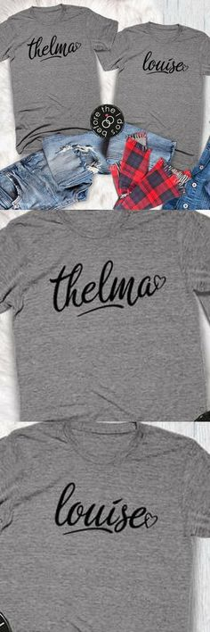 54cb0ed5 Thelma and Louise Relaxed Boyfriend Fit Tee Set /// Friend Shirts,  Christmas Gift