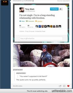 It's funny because in a different earth Tonya Stark does marry Captain America