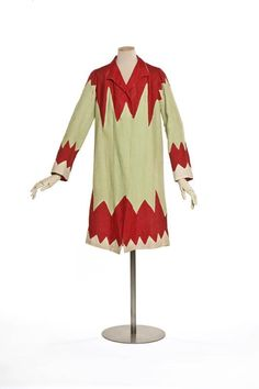 Sonia Delaunay, Linen Coat with Red Applique. France, c. 1925.