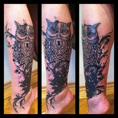 Black Owl Tattoo Cover Up