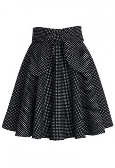 Dot bow skirt