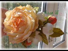 """МК """"Как сделать украшение с цветами из фоамирана"""" - YouTube"""