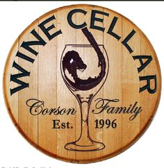 Let this beautiful barrel sign welcome your guests to your home, wine bar, winery tasting room, or wine cellar. This Personalized wood sign is made from a used wine barrel. These custom signs have a personal touch that make great wine lover gifts.