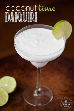 Coconut Lime Daiquiri | Self Proclaimed Foodie