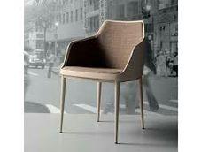 cadeira bloo com braços  designer Marcelo Ligierimaterial estrutura com pés em metal pintado, aço inox ou folheados em lâmina de madeira e assento em fibra de vidro estofada dimensões L50 x A77 x 53