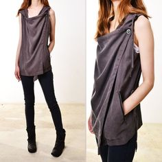 awesome Etsy listing at https://www.etsy.com/listing/154891567/courage-tencel-vest-with-hood-p3101